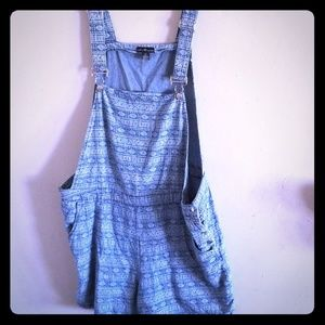 Patterned Overalls